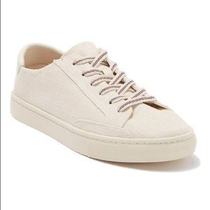 NWOT Soludos Ibiza Linen Lace-up Sneakers Blush 6